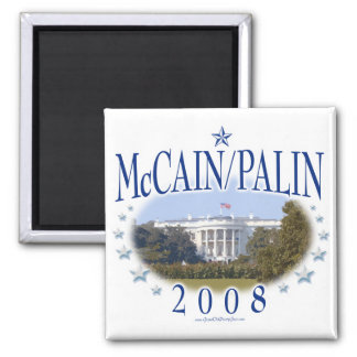 McCain Palin White House 2008 Square Magnet