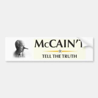 McCain't Tell the Truth Bumper Sticker