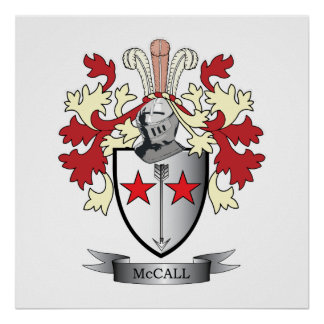 McCall Family Crest Coat of Arms Poster