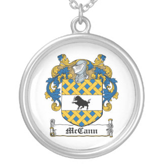 McCann Family Crest Silver Plated Necklace