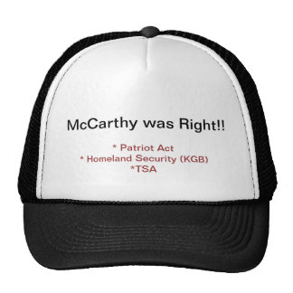 McCarthy was Right Trucker Hats