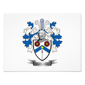 McClure Family Crest Coat of Arms Art Photo