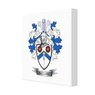 McClure Family Crest Coat of Arms Canvas Print