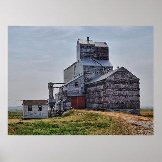 McCord Grain Elevator Poster Print