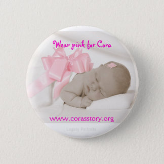 McCormick 8240  S  IG, Wear pink for Cora, www.... 6 Cm Round Badge