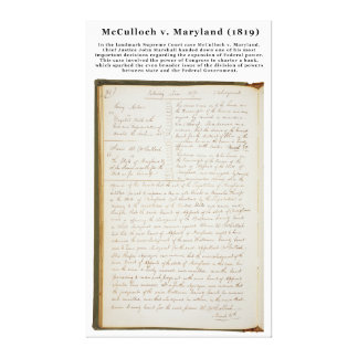 McCulloch v. Maryland, 17 U.S. 316 (1819) Gallery Wrapped Canvas