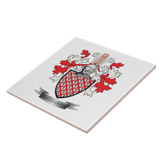 McCullough Family Crest Coat of Arms Ceramic Tile