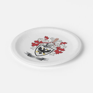 McCurdy Family Crest Coat of Arms Paper Plate