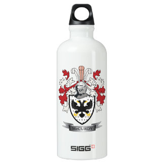 McCurdy Family Crest Coat of Arms Water Bottle