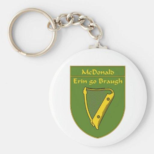 McDonald 1798 Flag Shield Key Chain