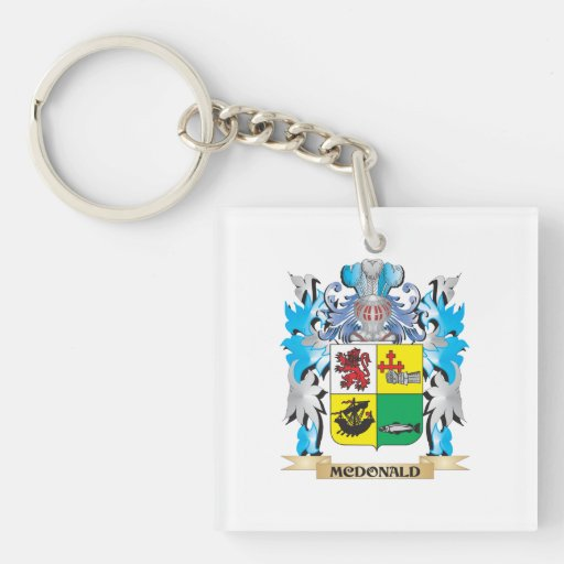 Mcdonald- Coat of Arms - Family Crest Square Acrylic Key Chain