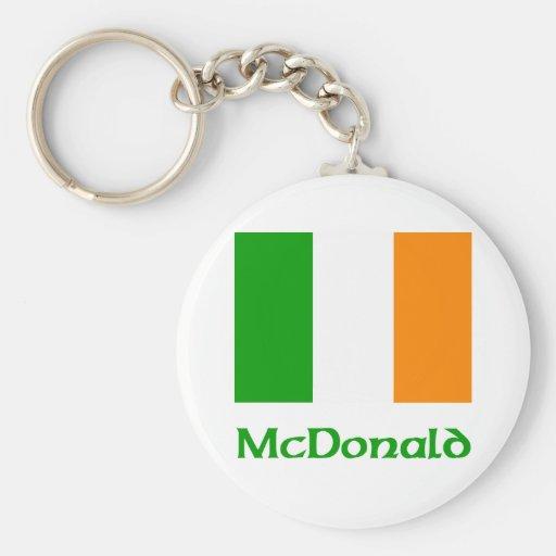 McDonald Irish Flag Key Chain