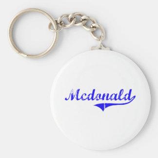 Mcdonald Surname Classic Style Key Chain