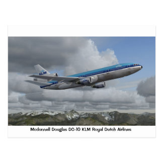 McDonnell Douglas DC-10 of KLM Royal Dutch Airline Postcard