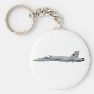McDonnell Douglas FA-18 Hornet Basic Round Button Key Ring