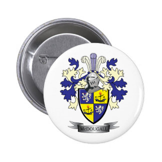 McDougall Family Crest Coat of Arms 6 Cm Round Badge