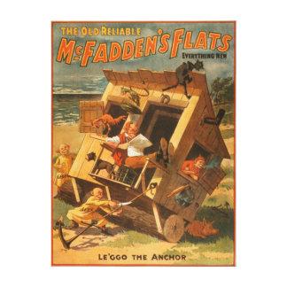 McFadden's Flats Theatrical Poster Canvas Print