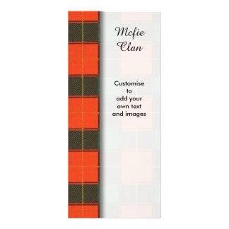Mcfie clan Plaid Scottish tartan Full Color Rack Card