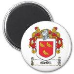 McGill Family Crest 6 Cm Round Magnet