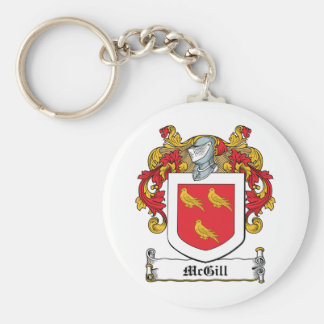 McGill Family Crest Basic Round Button Key Ring