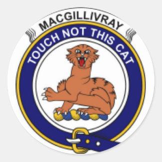 McGillivray Family Crest Classic Round Sticker