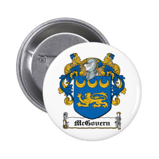 McGovern Family Crest 6 Cm Round Badge