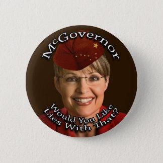 McGovernor Sarah Palin 6 Cm Round Badge