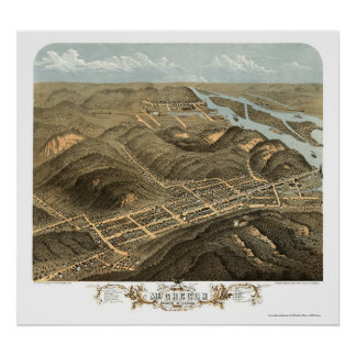 McGregor, IA Panoramic Map - 1869 Poster