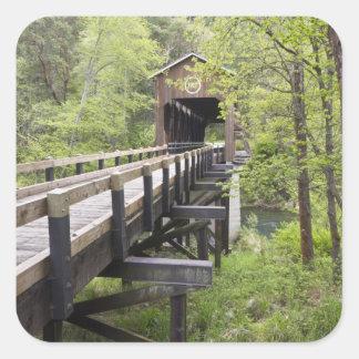 McKee covered bridge, Jacksonville, Oregon Square Sticker