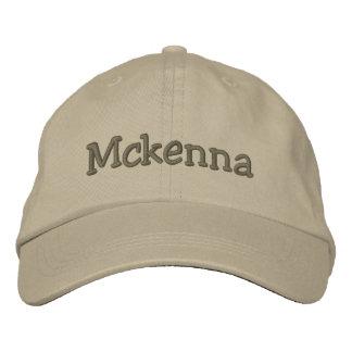 Mckenna Name Embroidered Baseball Cap Khaki