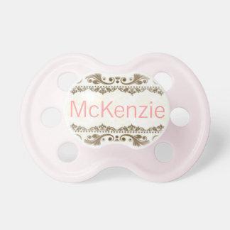 """McKenzie"" Custom Personalized Name Pacifier"