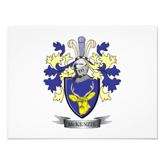 McKenzie Family Crest Coat of Arms Photo Print