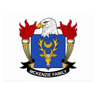 McKenzie Family Crest Postcard
