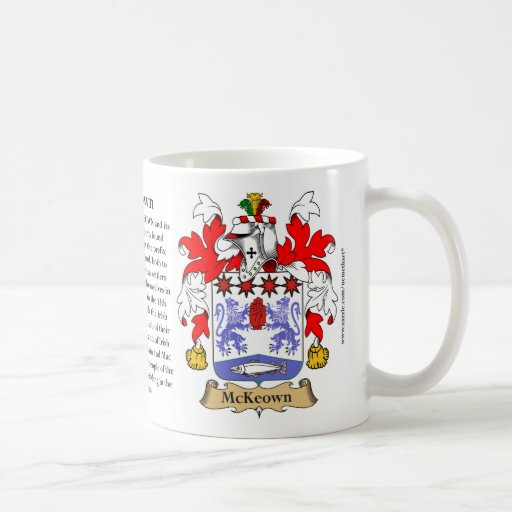 McKeown, the Origin, the Meaning and the Crest Coffee Mugs