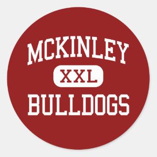 McKinley - Bulldogs - High School - Canton Ohio Classic Round Sticker