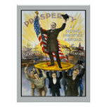 McKinley Republican Campaign Vintage Historical Poster
