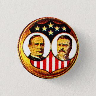 McKinley-Roosevelt jugate 3 Cm Round Badge