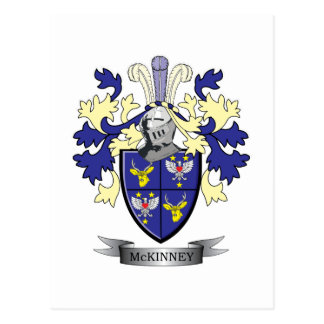 McKinney Family Crest Coat of Arms Postcard