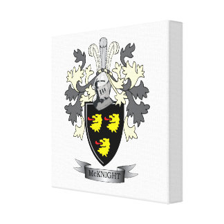 McKnight Family Crest Coat of Arms Canvas Print