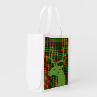 McLachlin Hunting Tartan Plaid Pattern Reusable Grocery Bag