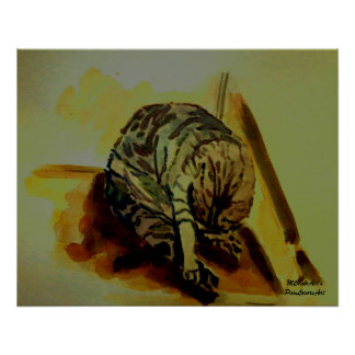 MClairArt s PawLoversArt Feline Cat Poster