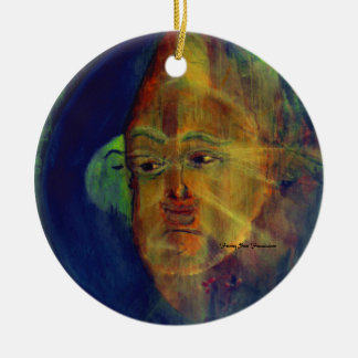 MClairArt's Funny Sun Faces Holiday Ornament