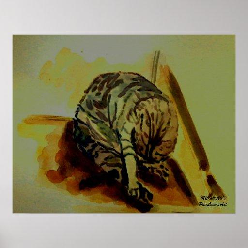 MClairArt's PawLoversArt Feline Cat Poster