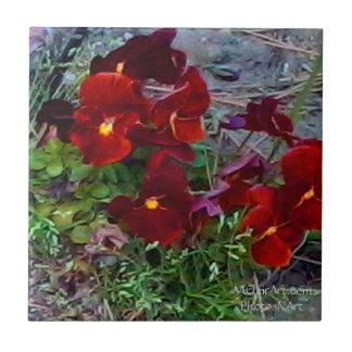 MClairArt's PhotosNArt Flower Ceramic Tiles
