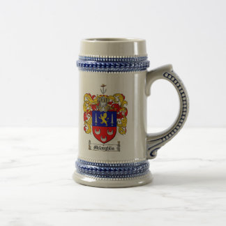 McLaughlin Coat of Arms Stein