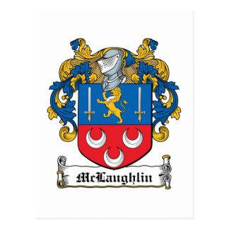 McLaughlin Family Crest Postcard