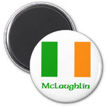 McLaughlin Irish Flag 6 Cm Round Magnet