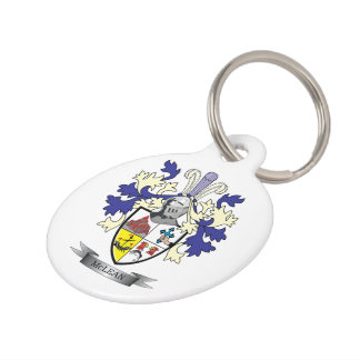 McLean Family Crest Coat of Arms Pet Tag