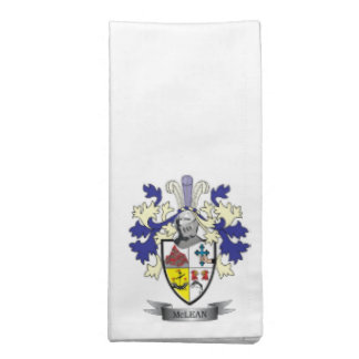 McLean Family Crest Coat of Arms    TITLE Napkin