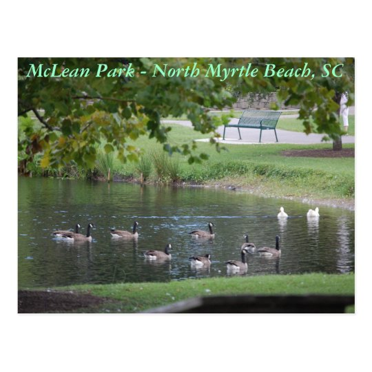 McLean Park - North Myrtle Beach, South Carolina Postcard